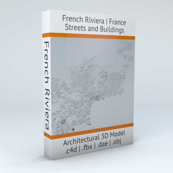 French Riviera from Cannes to Saint Tropez Streets and Buildings Architectural 3D Model