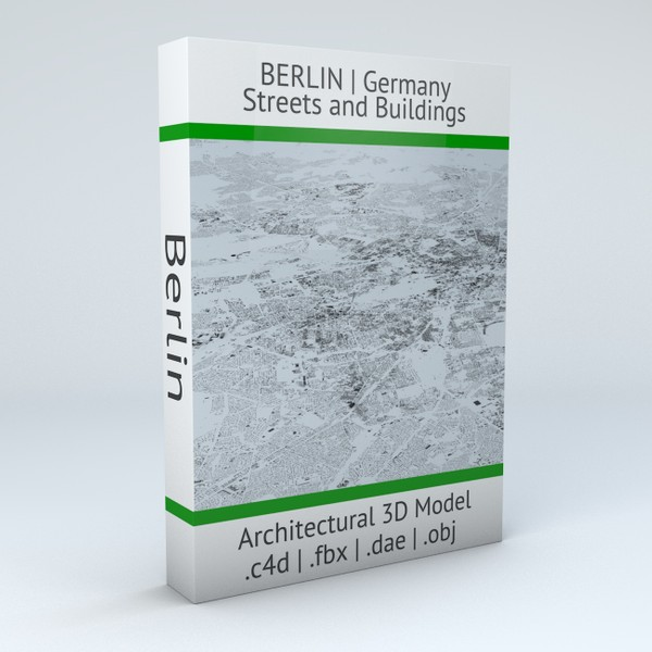 Berlin Streets and Buildings Architectural 3D Model
