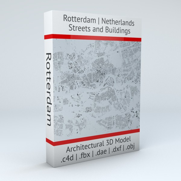 Rotterdam Streets and Buildings Architectural 3D model