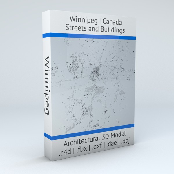 Winnipeg Streets and Buildings Architectural 3D model