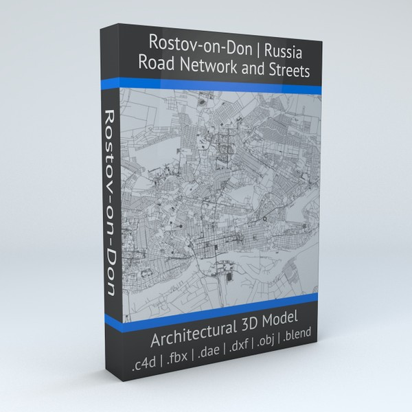 Rostov on Don Road Network and Streets Architectural 3D model