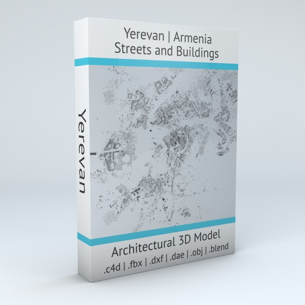 Yerevan Streets and Buildings 3D Model