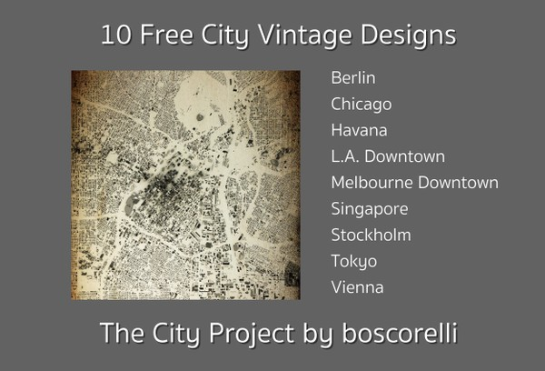 10 Free City Vintage Design Images