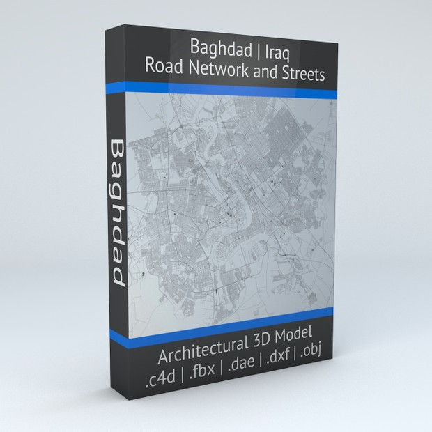 Baghdad Road Network and Streets Architectural 3D model