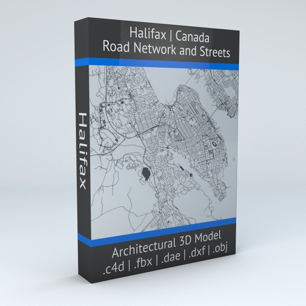 Halifax Road Network and Streets Architectural 3D model