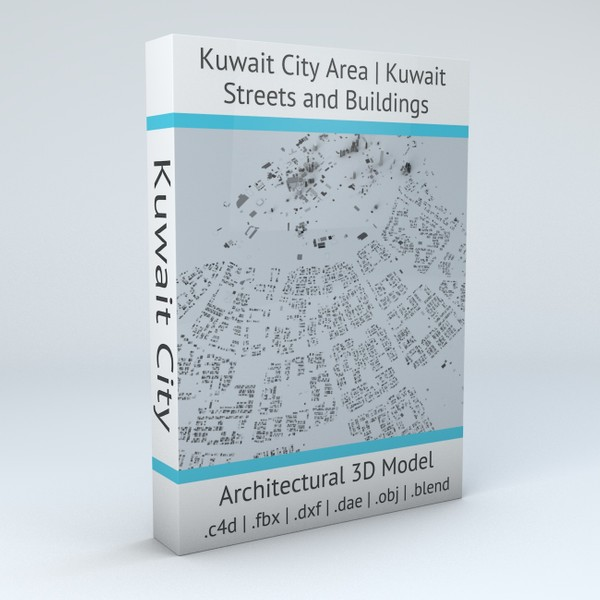 Kuwait City Area Streets and Buildings Architectural 3D model