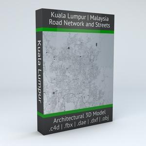 Kuala Lumpur Road Network and Streets 3D model