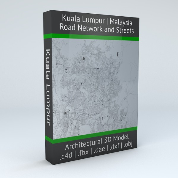 Kuala Lumpur Road Network and Streets 3D model