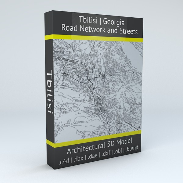 Tbilisi Road Network and Streets Architectural 3D model