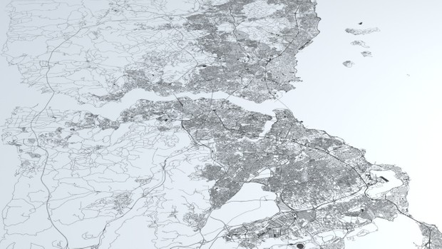 Istanbul Road Network and Streets Architectural 3D model