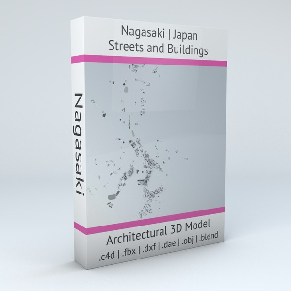 Nagasaki Streets and Buildings Architectural 3D model