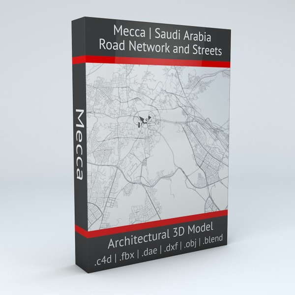 Mecca Road Network and Streets Architectural 3D model