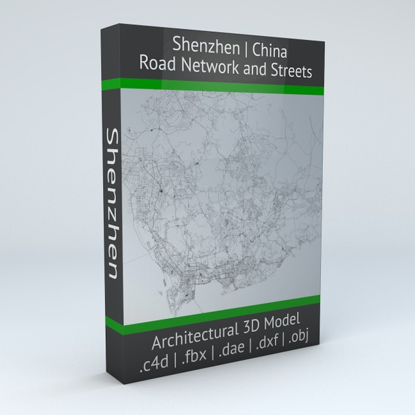 Shenzhen Road Network and Streets Architectural 3D model