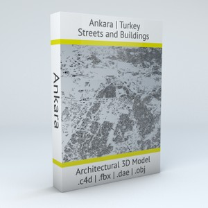 Ankara Streets and Buildings Architectural 3D Model