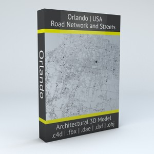 Orlando Road Network Architectural 3D Model
