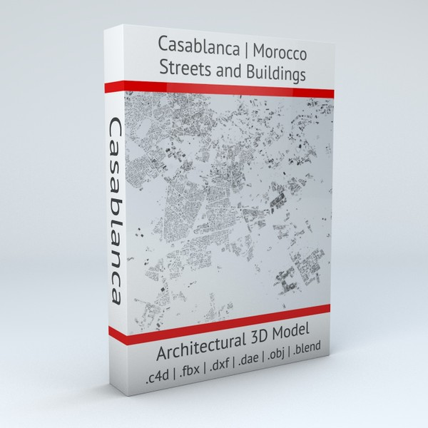 Casablanca Streets and Buildings Architectural 3D model