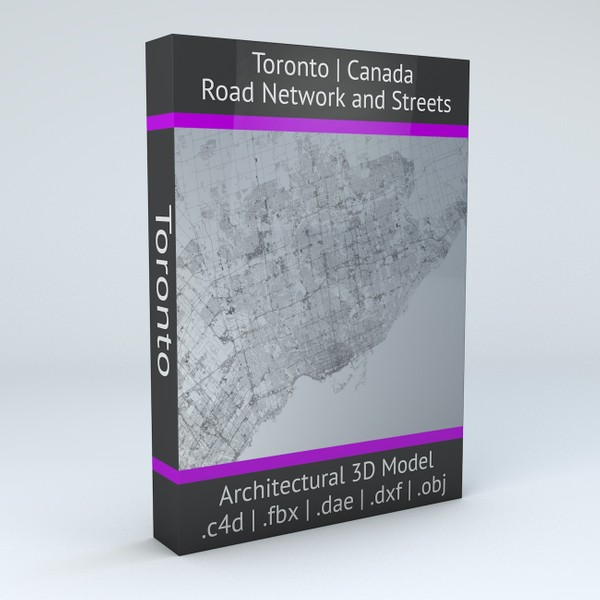 Toronto Road Network and Streets Architectural 3D model