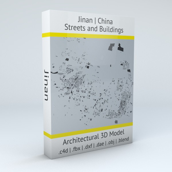Jinan Streets and Buildings 3D model
