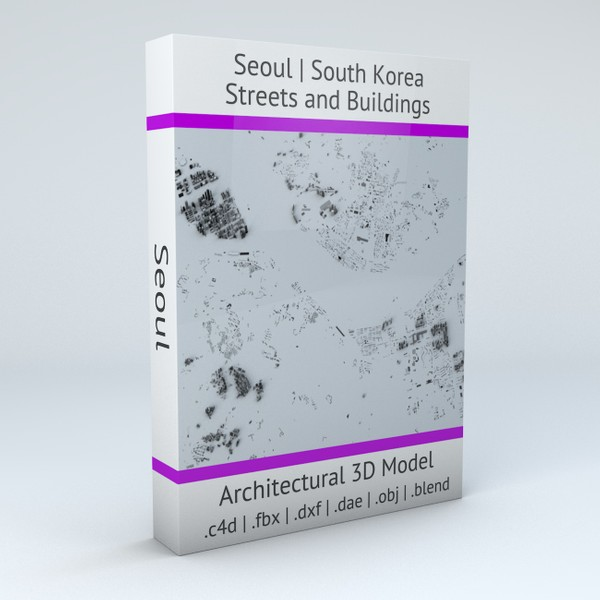 Seoul Streets and Buildings 3D model