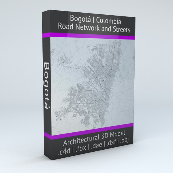 Bogota Road Network and Streets Architectural 3D model