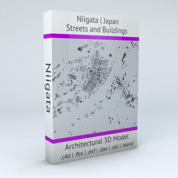 Niigata Streets and Buildings Architectural 3D model