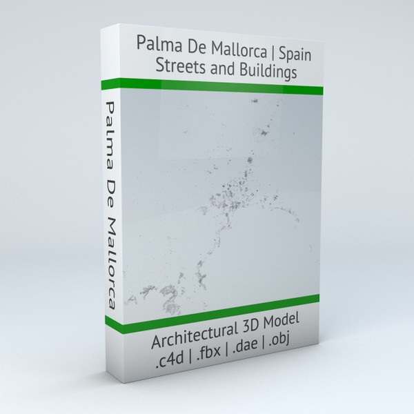 Palma De Mallorca Streets and Buildings Architectural 3D model