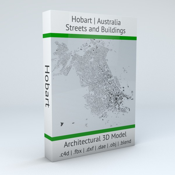 Hobart Streets and Buildings 3D model