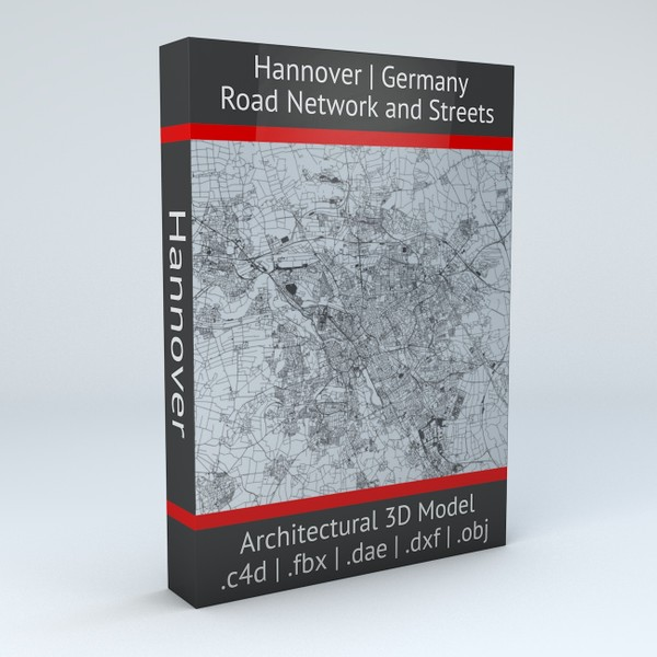 Hannover Road Network and Streets Architectural 3D model