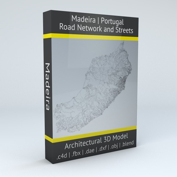 Madeira Road Network and Streets Architectural 3D model
