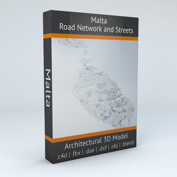 Malta Road Network and Streets Architectural 3D model