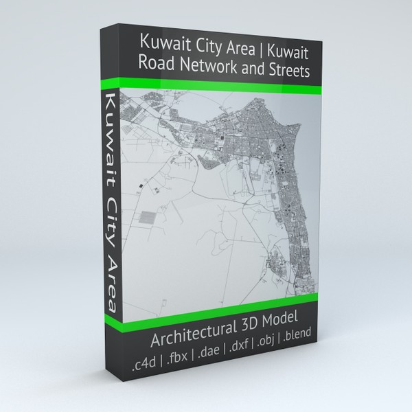 Kuwait City Area Road Network and Streets Architectural 3D model
