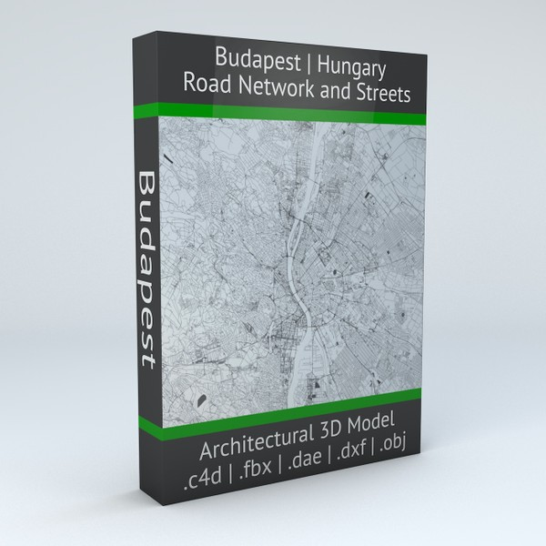Budapest Road Network and Streets Architectural 3D model