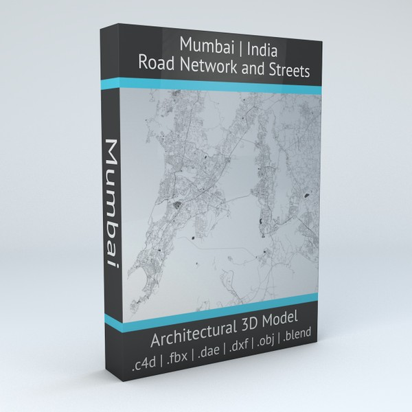 Mumbai Area Road Network and Streets 3D model