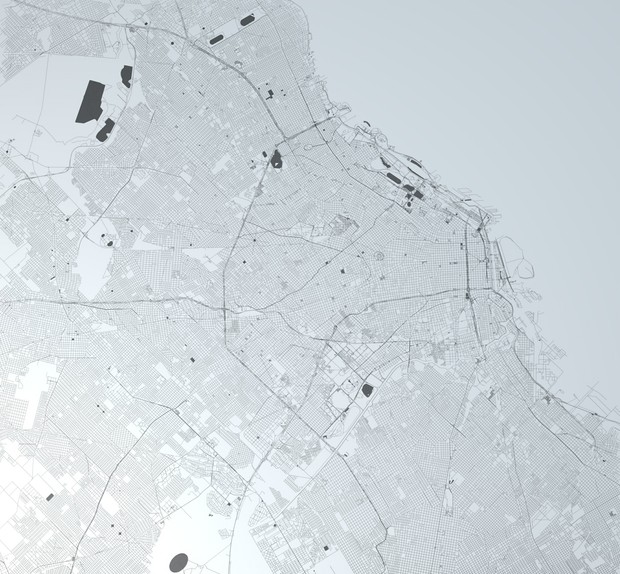 Buenos Aires Road Network and Streets Architectural 3D model