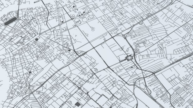 Bangkok Road Network and Streets Architectural 3D model