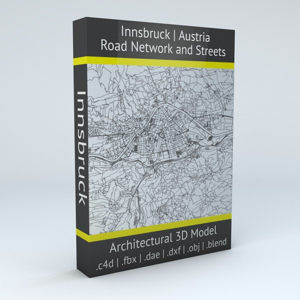 Innsbruck Road Network and Streets Architectural 3D model