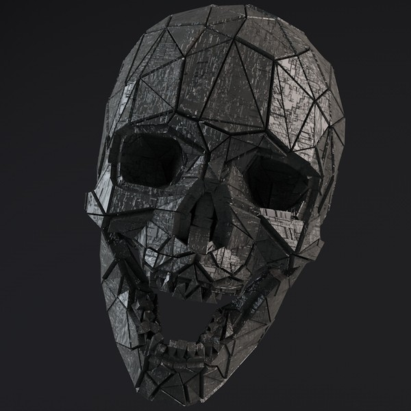 Sci-Fi Shapes - The Skull Low-poly 3D model