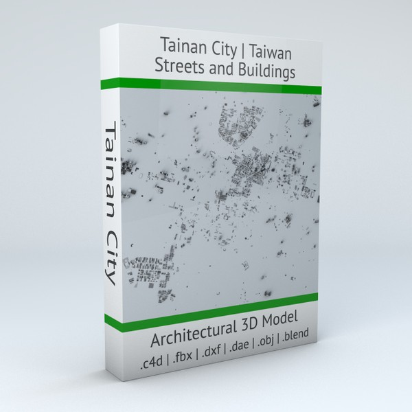 Tainan City Streets and Buildings 3D model