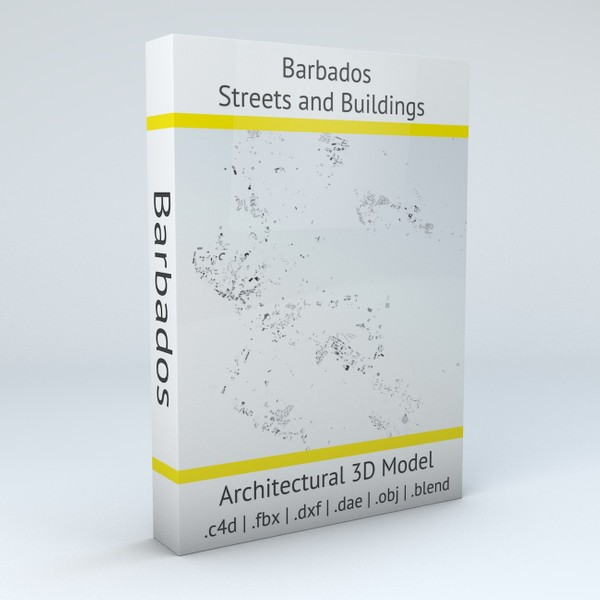 Barbados Streets and Buildings Architectural 3D Model