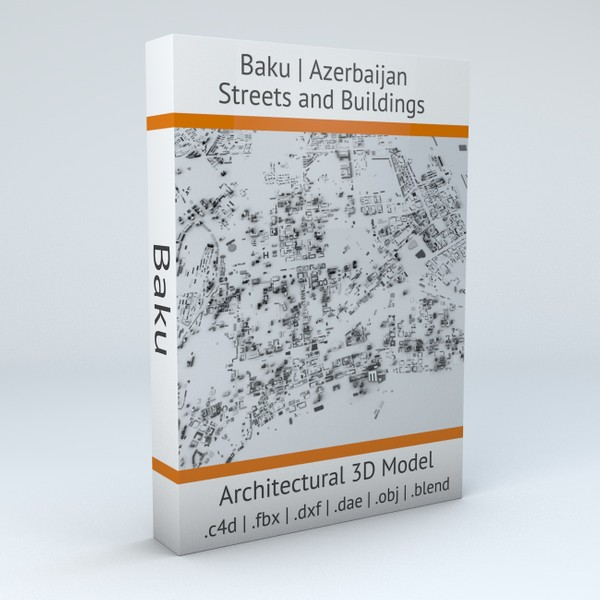 Baku Streets and Buildings Architectural 3D model