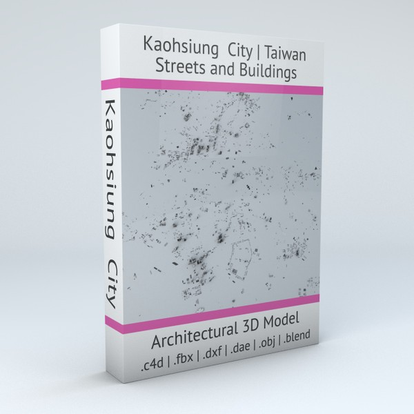 Kaohsiung City Streets and Buildings 3D model