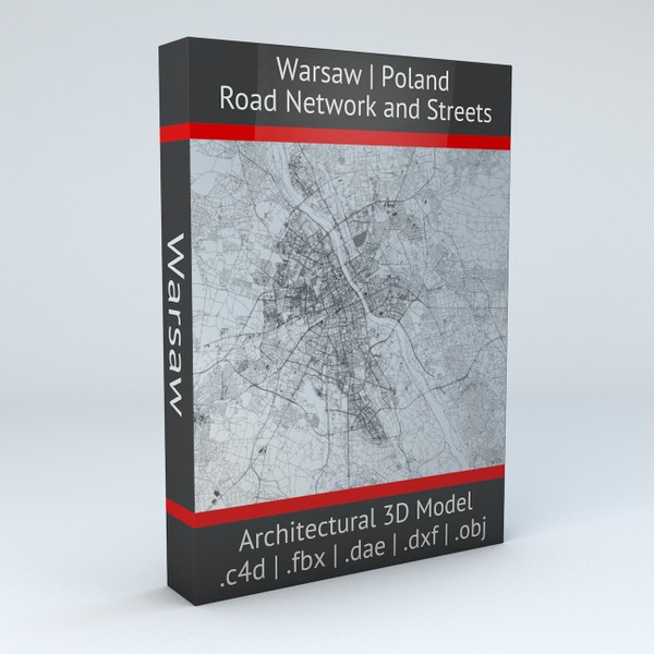 Warsaw Road Network and Streets Architectural 3D model