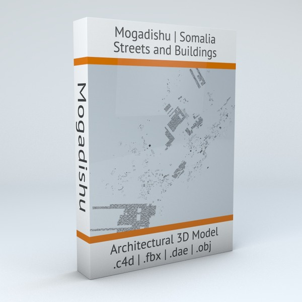 Mogadishu Streets and Buildings Architectural 3D model