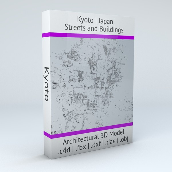 Kyoto Streets and Buildings Architectural 3D model