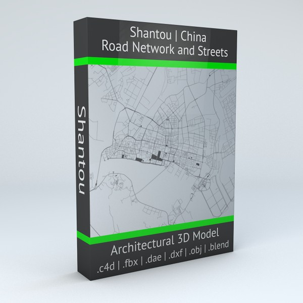 Shantou Road Network and Streets 3D model