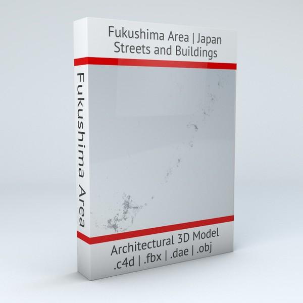 Fukushima Area Coast Streets and Buildings