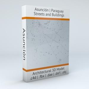 Asuncion Buildings Architectural 3D Model