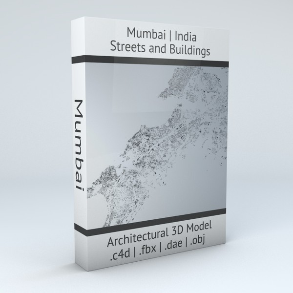 Mumbai Streets and Buildings Architectural 3D Model