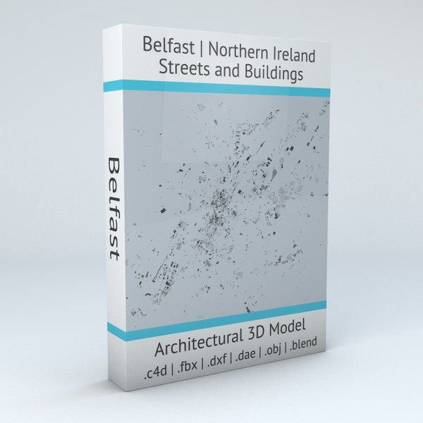 Belfast Streets and Buildings 3D model