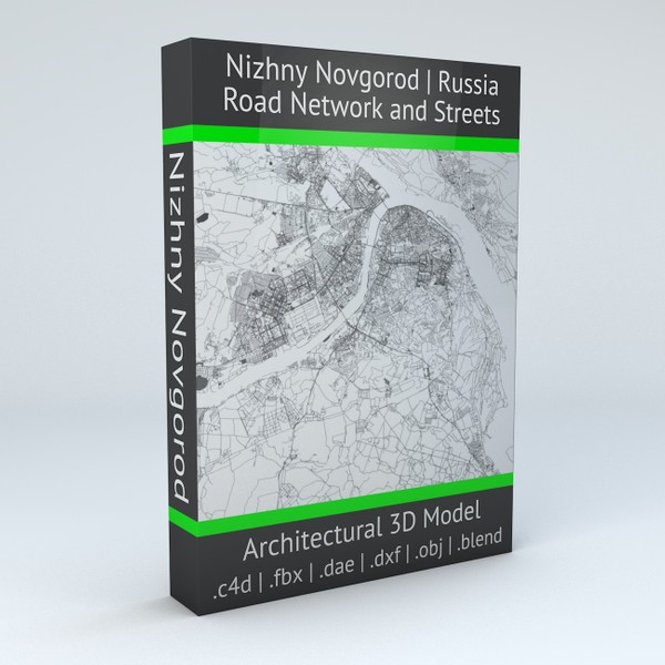 Nizhny Novgorod Road Network and Streets Architectural 3D model